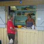 Kiosken är öppen. En härlig mötesplats!